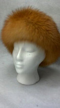 Real Red Fox Fur Headband  (made in the U.S.A.)