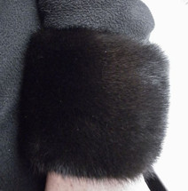 Real Ranch Mink Fur Cuffs  New  (made in the U.S.A.)