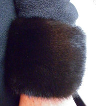 Real Mahogany Mink Fur Cuffs  New  made in the U.S.A.brown