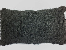 Kalgan Lamb Fur Dyed Black  Pillow Real Genuine  New made in USA cushion