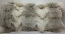 Fawn Light Fox Sections  Fur Real Genuine Pillow new  USA made  cushion