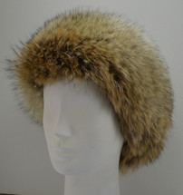 Real Coyote Fur Headband  New (made in the U.S.A.)