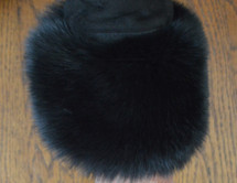 Black Fox Fur Cuffs