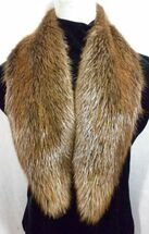 Real Beaver Fur Collar Detachable New  made in the U.S.A.