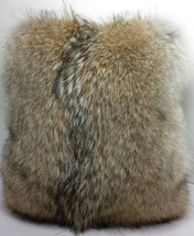 Coyote  Fur Pillow Real Full Skin fur cushion New made in USA insert included