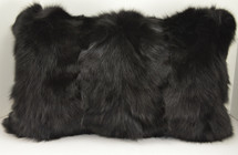 Black Fox Sections Fur Pillow Real New made in usa Genuine Authentic