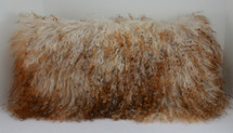 Mongolian lamb Lamb Fur Pillow 3 tone made in usa Real Genuine Authentic Tibet cushion