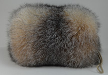 real crystal fox hand muff