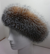 Real Crystal Fox Fur Headband New ( made in the U.S.A.) genuine authentic