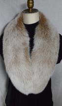 Blush Fox Fur Collar Detachable Snow Top New genuine  made in the usa