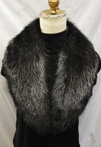 Real Black Beaver Fur Collar