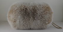 Real Blush Fox Hand Muff