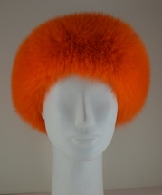 Genuine Orange Fur Headband