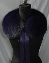 Purple Fox Fur Collar