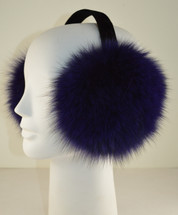 Fox Fur Earmuffs Purple