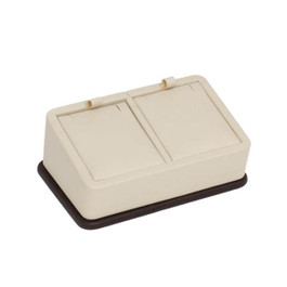Two Color Leatherette Pendant Tray - 2 Pieces