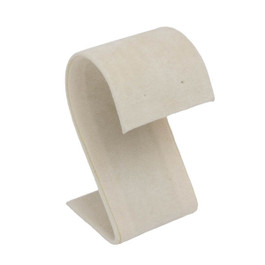 Suede S-Shape Earring Stand