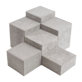 Suede Square Riser Set - 6 Piece