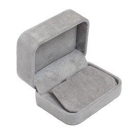 Round Corner Suede Earring Box
