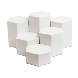 Leatherette Hexagon Riser Set - 6 Piece