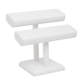 Leatherette Double T-Bar Bracelet or Bangle Stand - Square