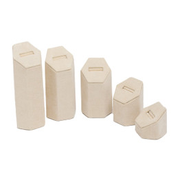 Suede Ring Tower - 5 Piece Set