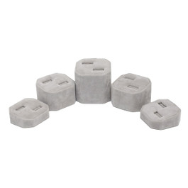 Suede Double Ring Tower - 5 Piece Set