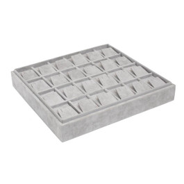 Stackable Suede Tray for Earrings - 24 Pair