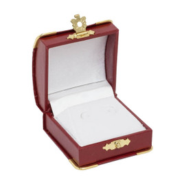 Stud Earring Box with Gilt Trim