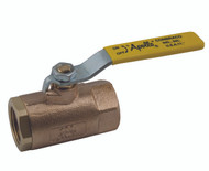 3/4 inch Ball Valve, Threaded, 2-Piece, Std. Port, Bronze, 600 CWP     part #: 70-104-01-HC with hose cap and chain