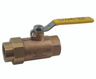 "Single Union End Bronze Ball Valve - 1/4"" - part# 70-301-01"