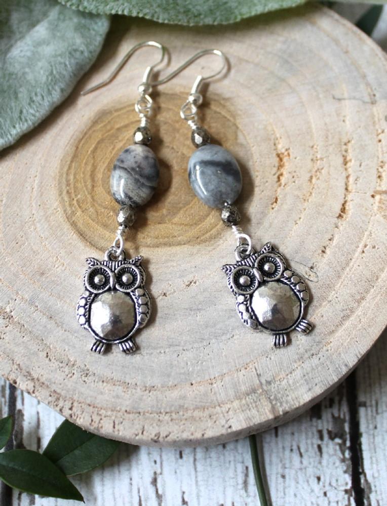 Fat Owl Earrings