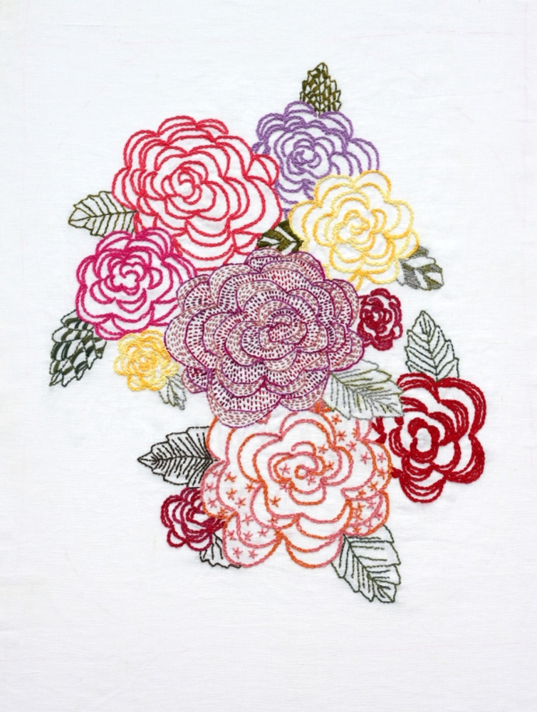 Cottage Roses (Pattern)