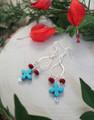Turquoise Cross Dangle Earrings