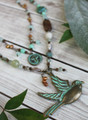 Verdigris Bird Pendant Necklace