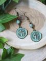 Cross Coin Earrings