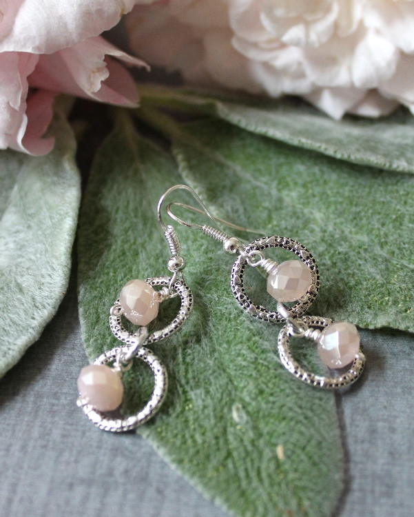 Circles & Crystals Earrings