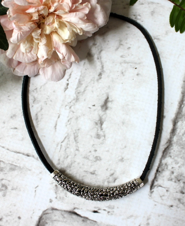 Suede & Pewter Choker