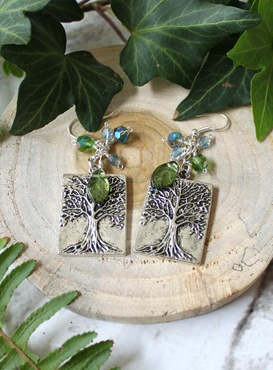 Square Tree  Earrings