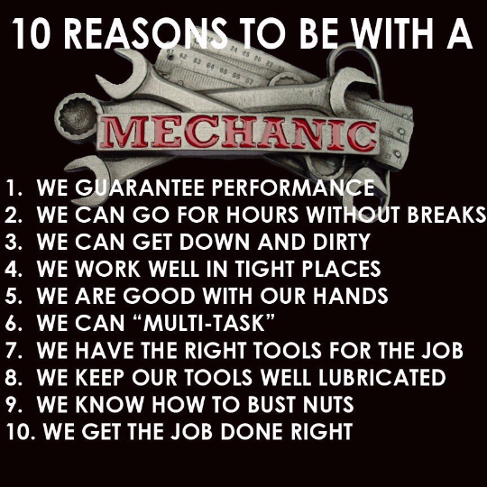 10 reasons to be with a mechanic Shirt