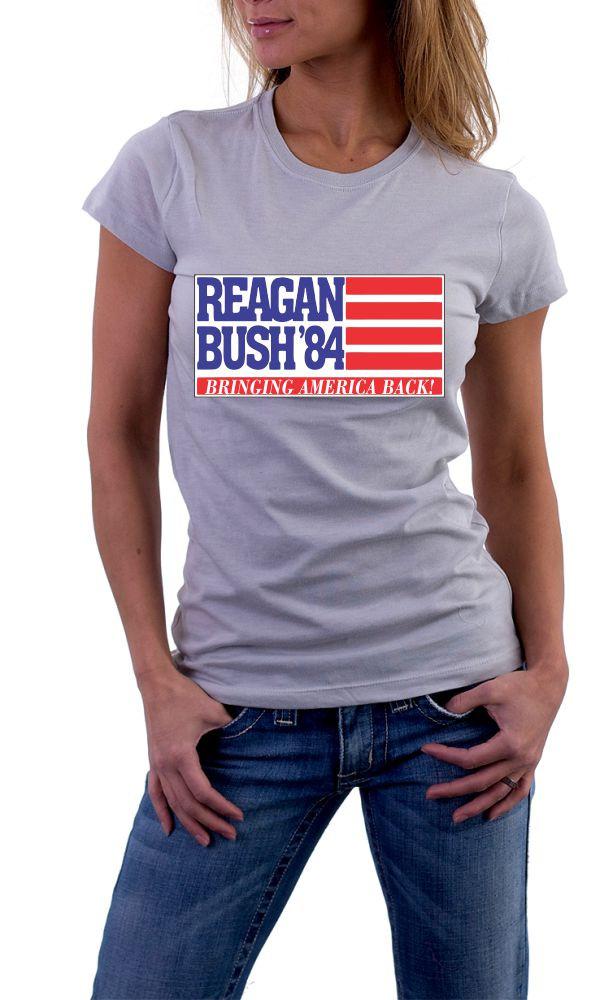 Reagan Bush 84 Bringing America Back Retro Campaign