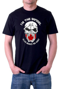 Im the Infidel Allah Warned You About Canadian T-Shirt