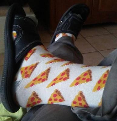 Flying Pizza Socks Sublimation Socks