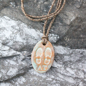 Appalachian Trail Boot Print Pendant