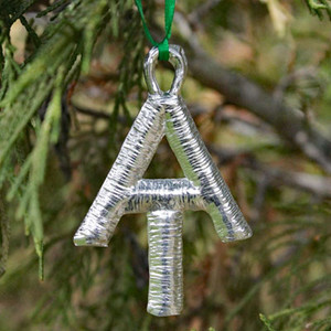 A.T. Pewter Ornament