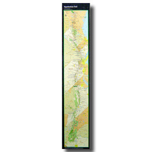The official National Park Service at-a-glance map is the perfect way to display the entire Appalachian Trail on your wall.