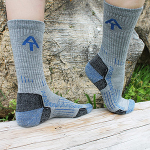 Point6 designed these stone-colored crew socks especially for ATC.