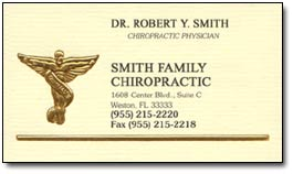 Chiropractic business cards and chiropractor business card ideas the beige stock black ink and gold foil caduceus must have been impressive a decade or two when this design premiered which is why a card like this can colourmoves