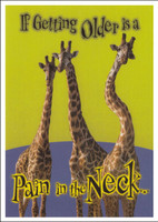 Pain in the Neck Birthday Postcard