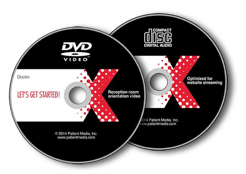 You'll receive a DVD for your reception room and a streamable version for your website or computer network.